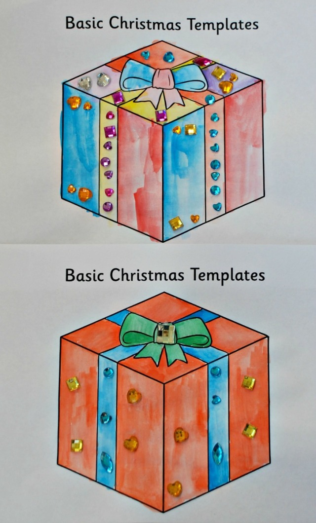 Basic Christmas Templates from Twinkl Resources. Presents