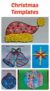 Basic Christmas Templates used for easy art activities for children.  Templates from Twinkl Resources