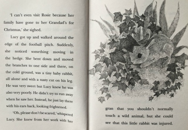 Inside page of Lucy's Magic Snow Globe written by Anne Booth