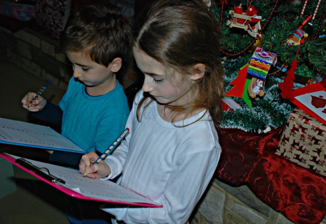 Trying the Christmas Alphabet Challange page from Activity Village. Fun way to practice spelling during Christmas