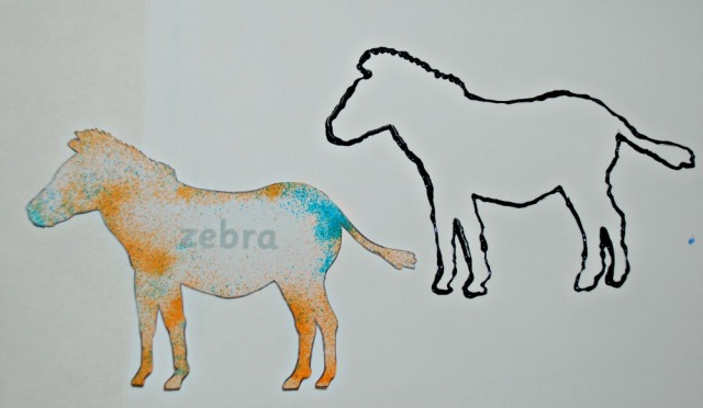 African animal painting activity create an animal outline with the dimsional paint