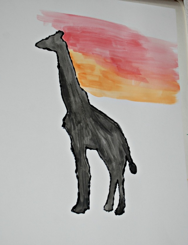 African animal painting activity for kids using a free to download african animal template