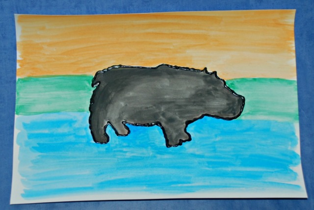 African animal painting activity for kids using the free to download safari animal tempales from Twinkl Resources