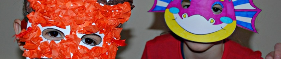 Easy craft to do with kids. Mask templates from Activity Village