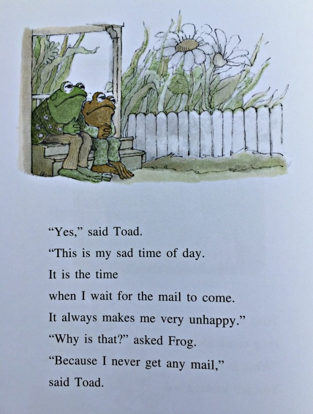Frog and Toad Are Friends. An extract from the story The Letter