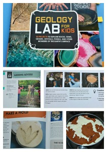 Geology LAB for kids.  A brilliant book which makes Geology fun and interesting for kids