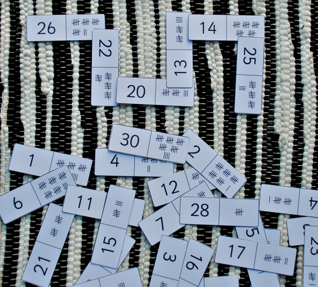 Maths Basket ideas. Tally Mark Dominoes from Twinkl Resources