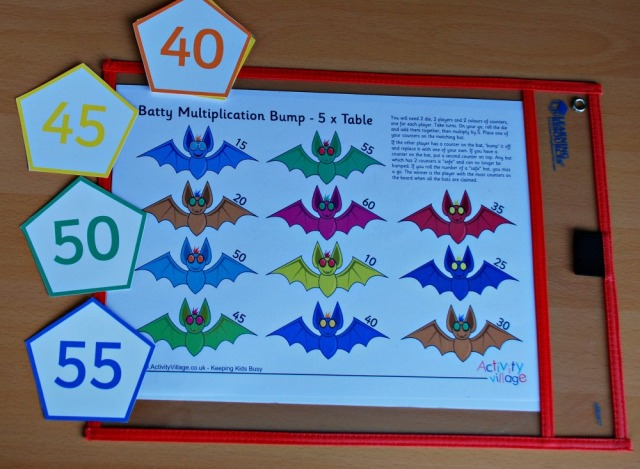 Maths Basket. The Batty Multiplication Bump game and skip counting cards are both from Activity Village
