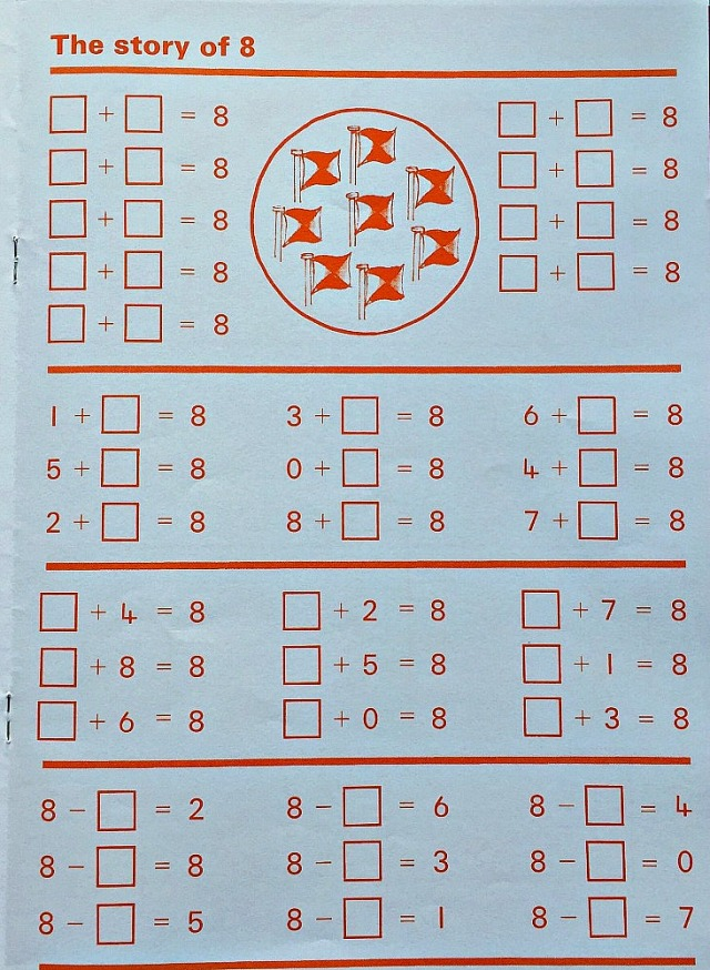 Schofield & Sims Number 2 Maths workbook. The story of 8. Maths practice for key stage 1