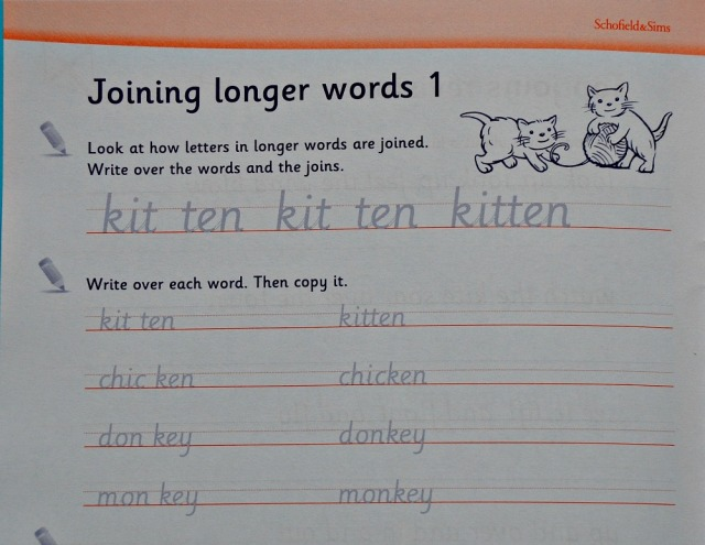 Schofield & Sims Handwriting Practice 2 book. Joined up writing practice key stage 2 ages