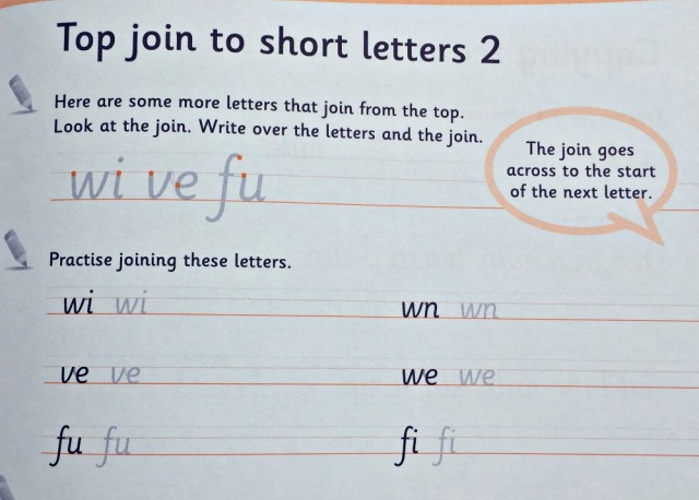Schofield & Sims Handwriting Practice 2 book. Joining up letters