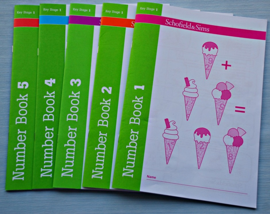 Schofield & Sims Number Books. Maths Practice workbook for keys stage 1 (UK year 1 and 2)
