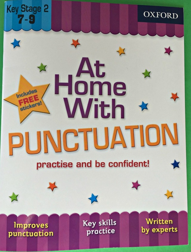 At Home With Punctuation by Oxford University Press. Ages 7 to 9. Good revision book