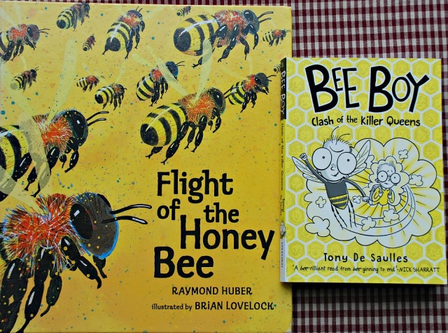 Bee Books. Flight of the Honey Bee and Bee Boy Clash of the Killer Queens
