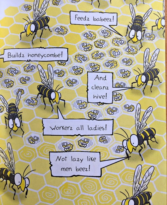 Bee Boy Clash of the Killer Queens. My son loved the way the bees talked with z's on the end of their words
