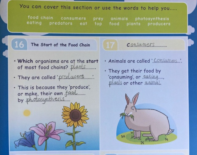 Oaka Books. Part of the Write Your Own Notes booklet from the Living Things and Their Habitats Topic Pack