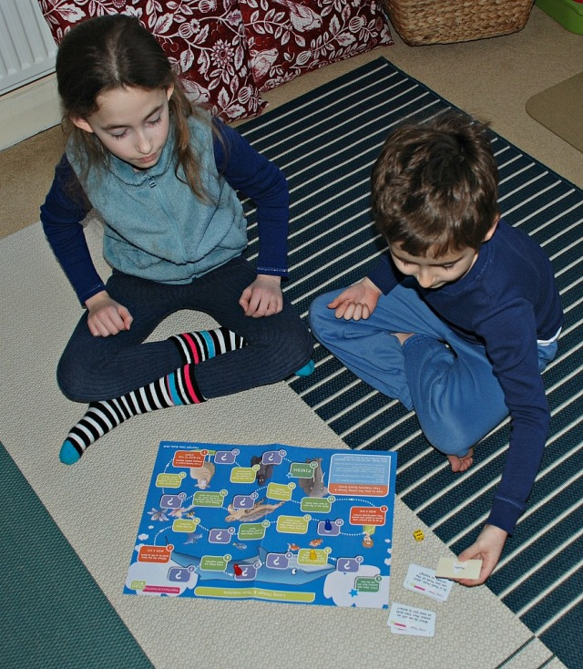 Playing the Oaka Book Living Things and Their Habitats game, part of the topic pack aimed at ks2