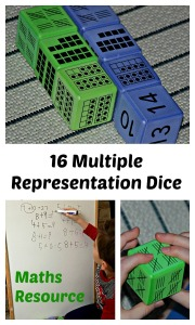 16 Foam Multiple Representation Dice from Learning Resources. Maths Tool for home or the classroom