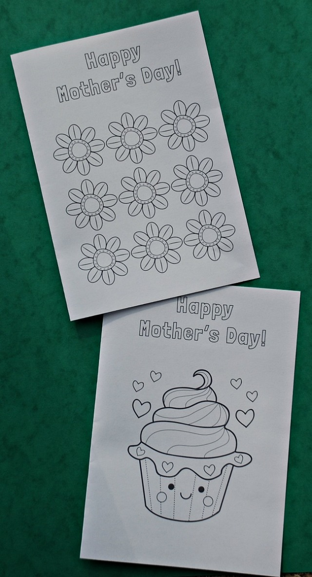 Free to download Mother's Day colouring cards from the Mrs Mactivity site