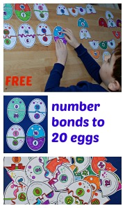 Free to download number bonds to 20 on eggs. From the Mrs Mactivity site