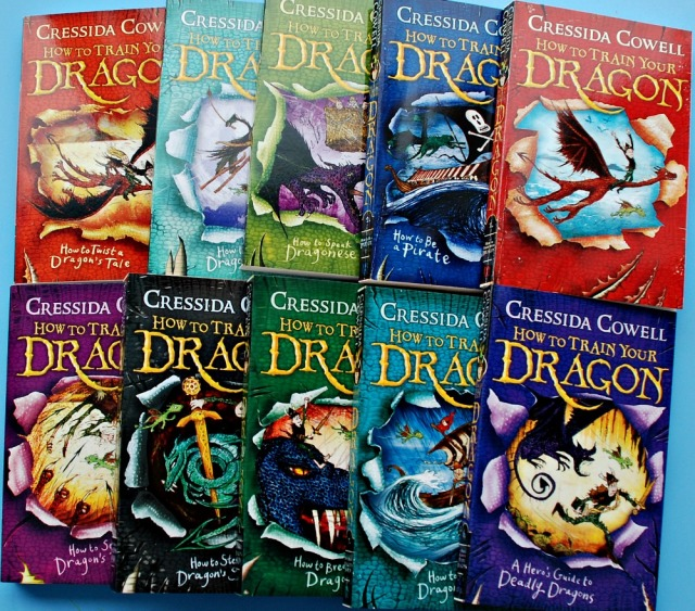 How to train your Dragon series of books by Cressida Cowell