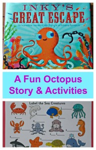 Inky's Great Escape. A fun Octopus story with some learning activity ideas