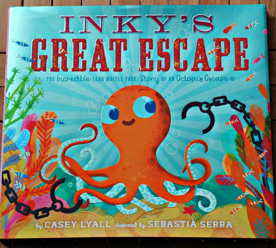 Inky's Great Escape by Casey Lyall. A fun story about an octopus escaping an acquarium