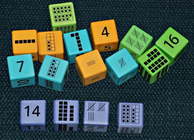 Learning Resources multiple respresentation foam dice. Numbers from 0 to 20