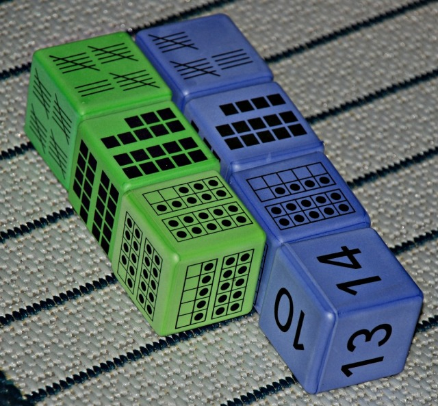 Maths Resource. Multiple Representation Dice from Learning Resources. 16 foam dice which with numbers from 0 to 20