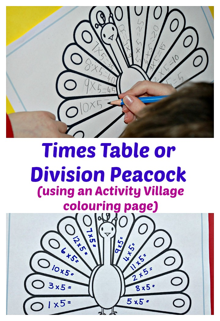 Peacock Times Table | ofamily learning together