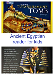 Discovering Tutankhamun's Tomb.  A reader from the BIG CAT series which is filled with facts about life in Ancient Egypt