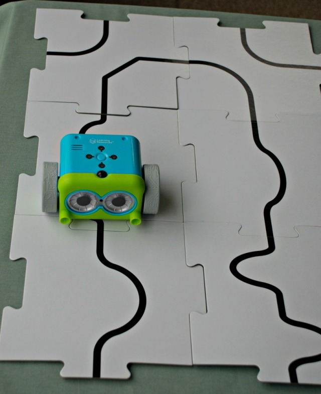 Botley the coding robot following a black line