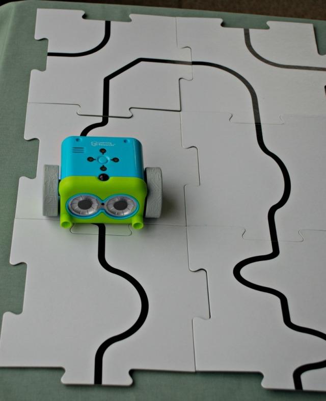 Botley the coding robot following a black line