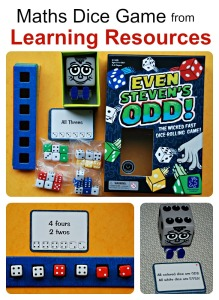 Even Steven's Odd! Maths Dice game from Learning Resources