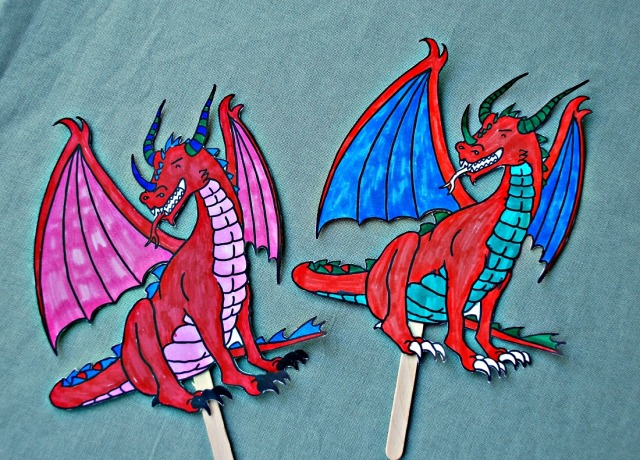Free to Download Dragon STick Puppets from Twinkl Resources. Part of their How to Train Your Dragon set