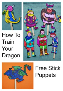 Free to download How To Train Your Dragon Stick Puppets from Twinkl Resources