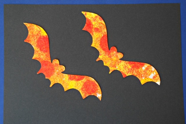Kids bat picture made using Activity Village templates