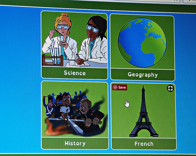 Oaka Digital Library includes 4 subjects. Science, Geography, History and French