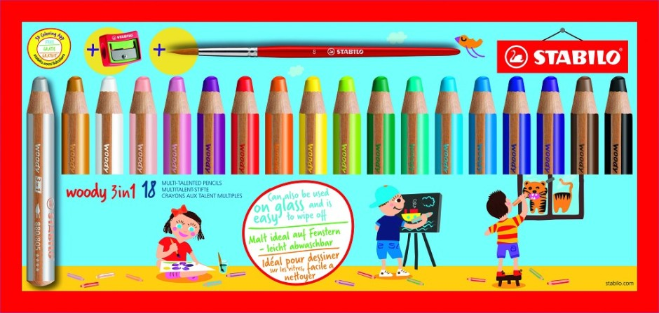 STABILO 3 in 1 pencil set