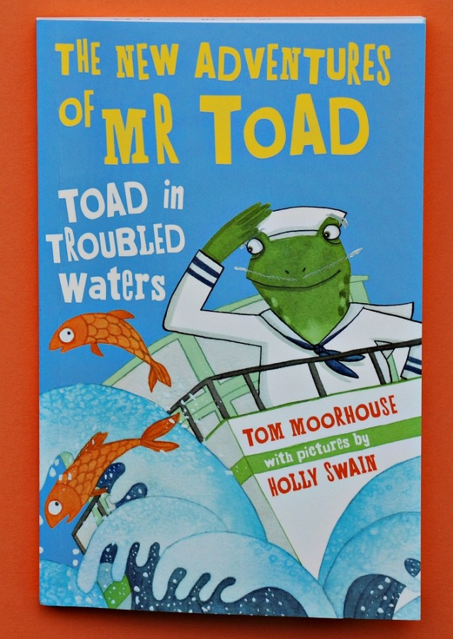 The New Adventures of Mr Toad. Toad in Troubled Waters by Tom Moorhouse and Holly Swain. a good first chapter reader