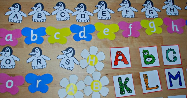 Some of the different Alphabet pages from Activity Village