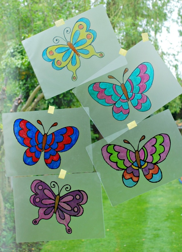 Fun and Easy to make butterfly suncatchers