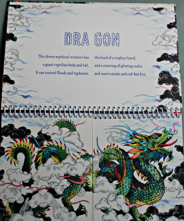 Myth Match Book. The dragon double page. For every picture there is a brief description of creature