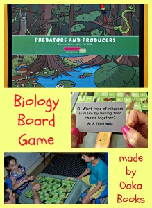 Oaka Books Biology Board Games aimed at Key Stage 2 ages.  Predators and Producers