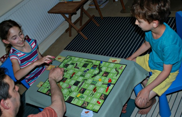 Playing the Predators and producers Science Board game from Oaka Books. Fun Science activity for Key Stage 2 ages