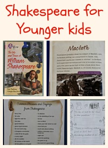 Shakespeare for younger kids. The Life and Times of William Shakespeare reader plus quote pages from Activity Village