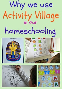 Why we use so many Activity Village pages in our home education (homeschooling)