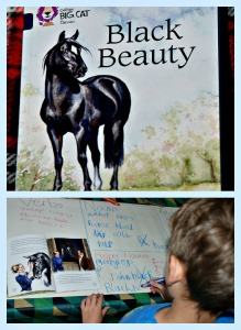 Classic Children's story Black Beauty. Using it for a verb, noun, adverb and adjective hunt