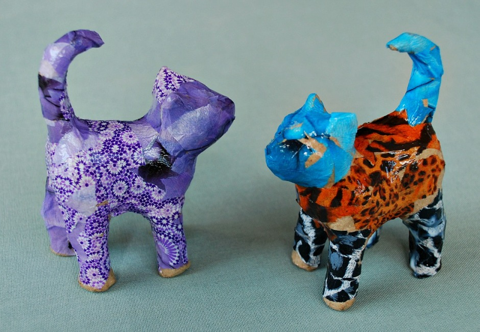 Decoupage Cats. Easy and fun crafting activity for children to do at home. Great all year round activity