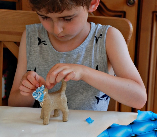 Decoupage is a great sensory activity for children with sensory processing disorder